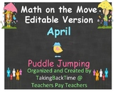 """Math on the Move_ Editable Version for April called """"Puddl"""