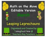 """Math on the Move_Editable March Version called """"Leaping Le"""