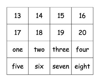 Math one to one correspondence digits words center hands one ESL counting