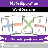 Math Operation Word Searches