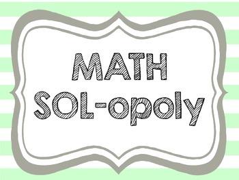 Math-opoly SOL Test Review Prep