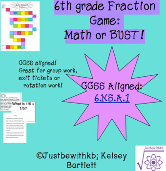 Math or Bust! - Fraction Game