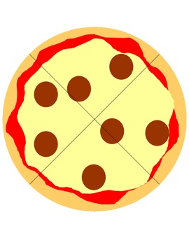 Math or Music Fraction Pizzas