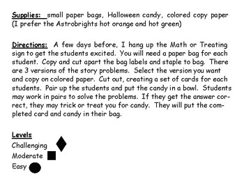 Math-or-Treat! Multi-Step Addition & Subtraction Practice with a Halloween Twist