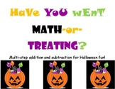 Math-or-Treat! Multi-Step Addition & Subtraction Practice
