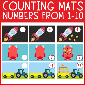 Math play dough mats