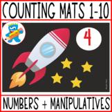 Math play dough mats