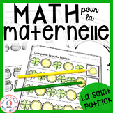 FRENCH Saint Patrick's Day No Prep Math Worksheets - Kindergarten (maternelle)