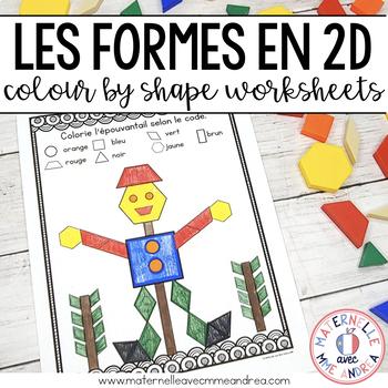 Math pour la maternelle - Colorier par la forme