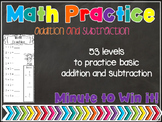 Math practice (addition, subtraction) minute to win it