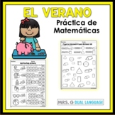 Math practice pages in Spanish SUMMER