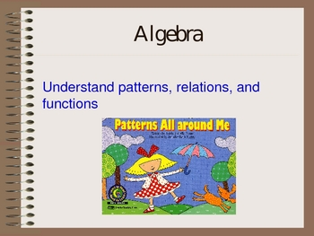 Math principles and standards for grades pre-k thru 2nd ppt