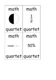 Math quartets (fractions-percentages)