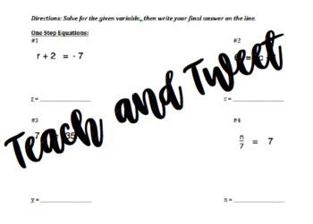 Math quiz 8.EE.7a, 8.EE.7b