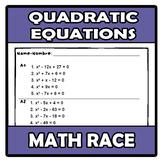 Math race - Carrera matemática - Quadratic equations - Ecu