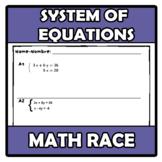 Math race - Carrera matemática - System of equations - Sis