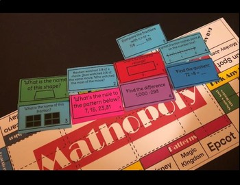 Math review Game for Centers: Matholopy!
