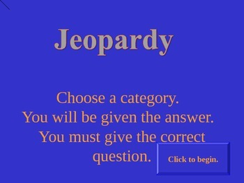 Math review jeopardy