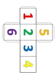 Math signs. Colored & black and white cubes with math symbols