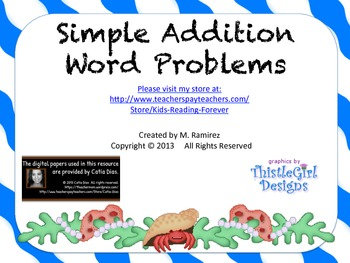 Math simple addition word problems