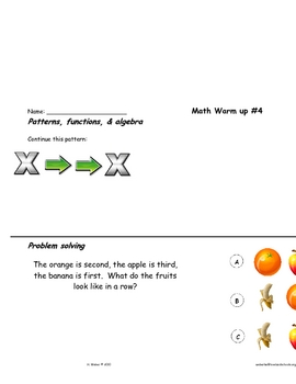 Math  skill review in all content strands #1-10