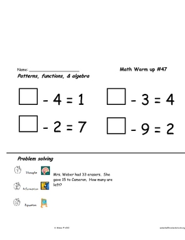 Math skill review in all content strands #41-55