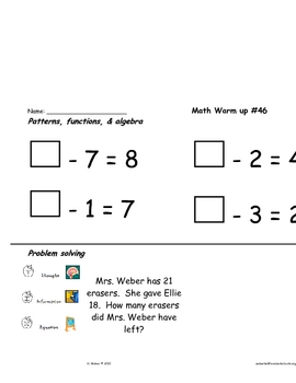 Math  skill review in all content strands #41-70