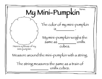 Math skills with PUMPKINS!