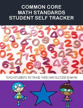 CCSS Math Standards Student Data Tracker Sticker chart