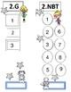Math Common Core Student Tracker or Sticker Chart