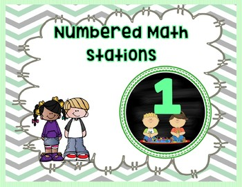 Math station number signs