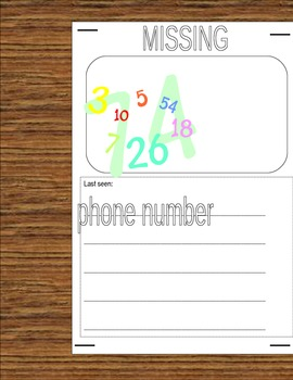 Math substitute plans based on Missing Math by Loreen Leedy