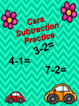 Math subtraction problems  (Counting Cars)