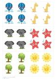 Math symbols and flashcards