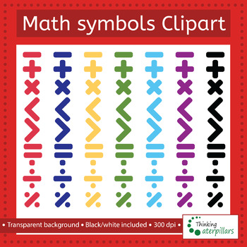 Math Symbols Clip Art By Thinkingcaterpillars Teachers Pay Teachers