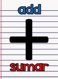 Math symbols with names ENG & SPAN