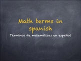 Math terms in spanish