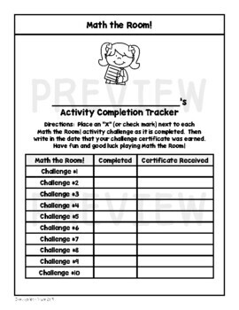 Math the Room Addition and Subtraction Challenges