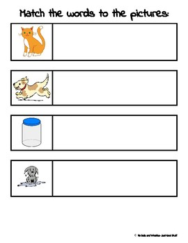 Match the (CVC) Words to the Pictures