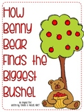 Math through Literacy Freebie-How Benny Bear Finds the Biggest Bushel