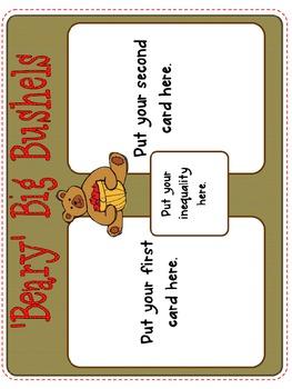 Math through Literacy Freebie-How Benny Bear Finds the Biggest Bushel