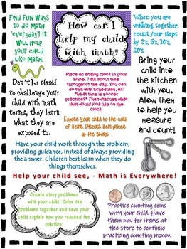 Math tip sheet