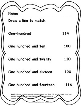 Math to 120