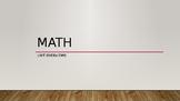 Math units presentation