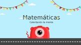 Math warm up en español
