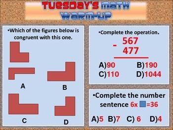 Math warm-ups