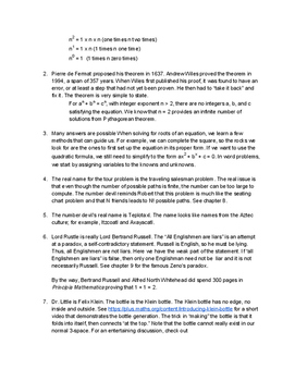 Math with Computer Coding Based on The Number Devil, Chapters 11 and 12