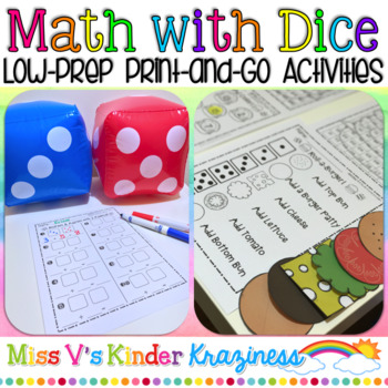 Math with Dice: Low-Prep, Print-and-Go Activities
