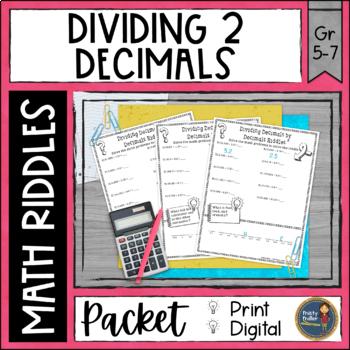 Dividing Decimals 2 Math with Riddles