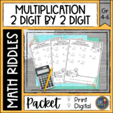 Multiplication 2 digit x 2 digit Math with Riddles